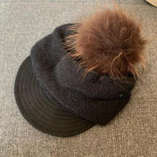 カシラ(CA4LA)のCA4LA ニット帽ボンボン付き(ニット帽/ビーニー)