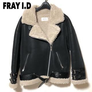 フレイアイディー(FRAY I.D)のFRAY I.D ルーズボンバージャケット 0/フレイアイディー Fムートン(ライダースジャケット)