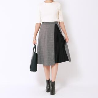 スタイルデリ(STYLE DELI)のSTYLE DELI スタイルデリ チェック柄プリーツポイントスカート(ひざ丈スカート)