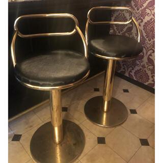 フランフラン(Francfranc)のcool!本物vintage*ゴールドカウンターチェア*アンティーク 真鍮(スツール)