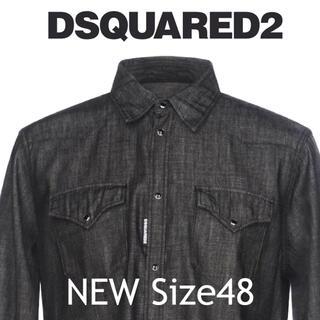 ディースクエアード(DSQUARED2)の【新品】DSQUARED2 ディースクエアード デニムシャツ コットン(シャツ)