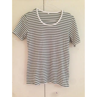 ムジルシリョウヒン(MUJI (無印良品))のボーダーTシャツ(Tシャツ(半袖/袖なし))