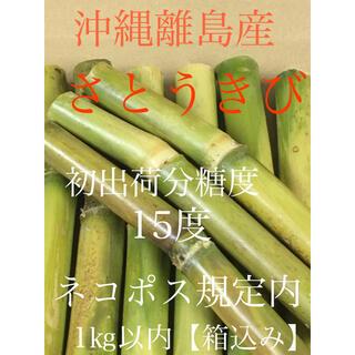 さとうきび ネコポス規定内 発送当日収穫 沖縄離島産 サトウキビ(野菜)