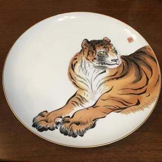 虎 干支絵皿 深川製 皿 有田焼 ♡(食器)