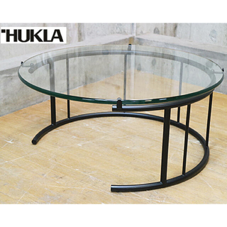 HUKLA リビングテーブル ガラス 美品 フクラ(ローテーブル)