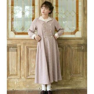 メリージェニー(merry jenny)のLEBECCA boutique  朝方の化粧ワンピース  チェックワンピース (ロングワンピース/マキシワンピース)