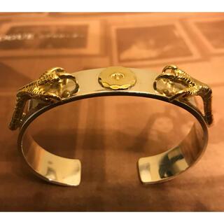 ゴローズ(goro's)のゴローズ 金爪 金メタル付き 平打ちバングル 調節可能(バングル/リストバンド)
