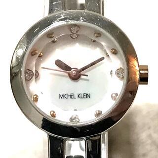 ミッシェルクラン(MICHEL KLEIN)のミッシェルクラン AJCK010 レディース腕時計 ラインストーン シルバー(腕時計)