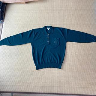 シャネル(CHANEL)のシャネル メンズ長袖セーター 緑色フリーサイズ(ニット/セーター)