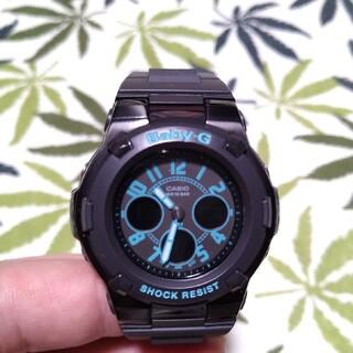 ベビージー(Baby-G)のCASIO Baby-G bga-117 ジーショック 文字ターコイズ(腕時計)