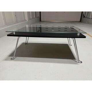 ガラステーブル 折りたたみ 黒 北欧 おしゃれ(ローテーブル)