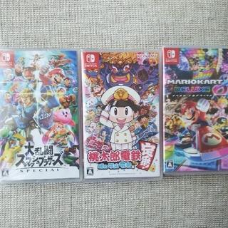 ニンテンドースイッチ(Nintendo Switch)の大乱闘スマッシュブラザーズ   桃太郎電鉄   マリオカート(家庭用ゲームソフト)