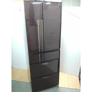 三菱 - 冷蔵庫 人気木目ブラウン 光沢木目 タッチパネル 切れちゃう冷凍 三菱 大容量