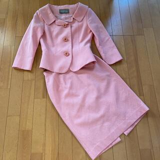 FRANCO FERRARO - フランコフェラーロ 高級 ピンクのスカート  スーツ 美品 セットアップ