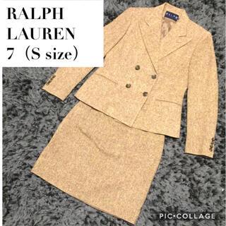 ラルフローレン(Ralph Lauren)のシルク混 美品 ラルフローレン セットアップ  ベージュ Sサイズ(スーツ)