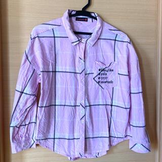 ラブトキシック(lovetoxic)のLOVETOXIC ネルシャツ Lサイズ(ブラウス)