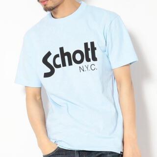 ショット(schott)の新品★Schott BASIC LOGO T-SHIRT ライトブルー/S(Tシャツ/カットソー(半袖/袖なし))