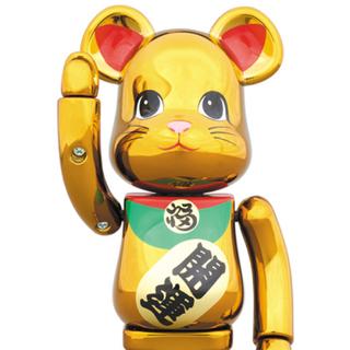 メディコムトイ(MEDICOM TOY)の超合金 BE@RBRICK 招き猫 金メッキ 参 限定(その他)