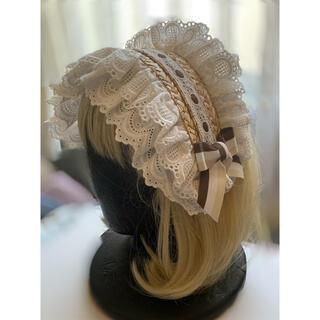 アンジェリックプリティー(Angelic Pretty)の麦わらと綿レースのヘッドドレス(ヘアアクセサリー)