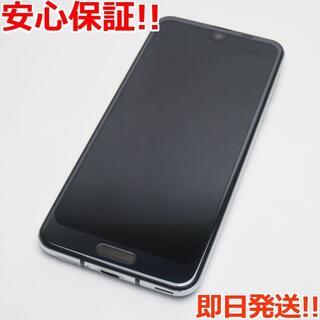 アクオス(AQUOS)の美品 706SH ブラック 本体 白ロム (スマートフォン本体)