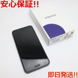 アクオス(AQUOS)の超美品 SHV43 AQUOS sense2 ニュアンスブラック (スマートフォン本体)