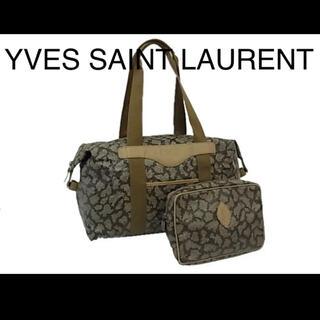 サンローラン(Saint Laurent)の【美品】イヴサンローラン ボストンバッグ ジラフ柄 正規品(ボストンバッグ)