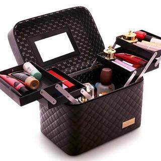 新品未使用 新品未使用 鏡付き メイクボックス 化粧箱 大型 大容量 タイプ(メイクボックス)
