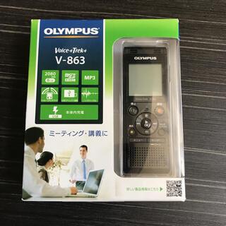 オリンパス(OLYMPUS)のオリンパス ボイスレコーダー OLYMPUS V-863 BLK(ポータブルプレーヤー)