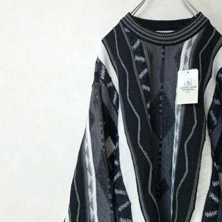 ニット セーター 90年代 デッドストック 古着 クージータイプ 立体 3D(ニット/セーター)
