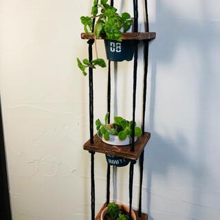 wooden plant hanger プラントハンガー+植木鉢(プランター)