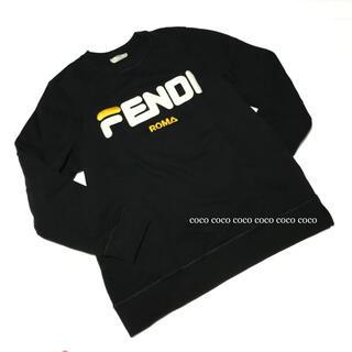フェンディ(FENDI)の18AW 正規品 フェンディ×フィラ ロゴ 刺繍 スウェット トレーナー M(トレーナー/スウェット)