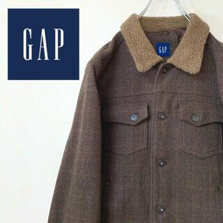 ギャップ(GAP)のold GAP 90年代 古着 ウールジャケット 襟ボア 極厚 美品(ブルゾン)