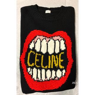 セリーヌ(celine)の新品【 CELINE 】ルーズ クルーネックセーター / カシミア&ウール S(ニット/セーター)
