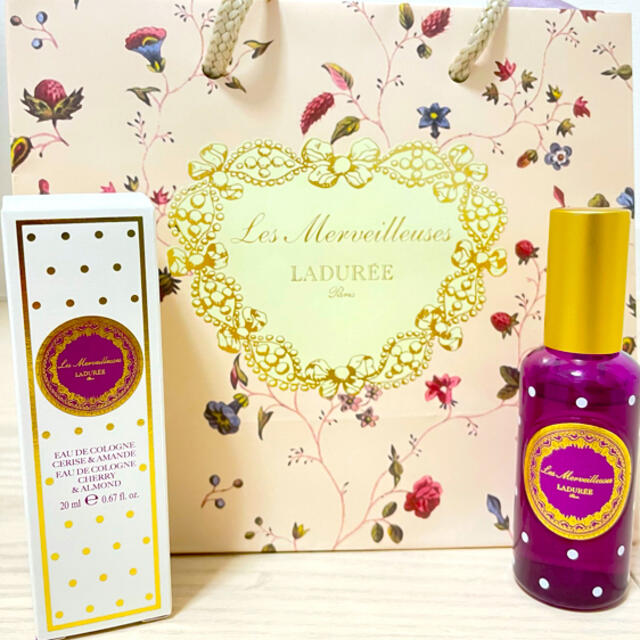 Les Merveilleuses LADUREE(レメルヴェイユーズラデュレ)のLADUREE オー デ コロン チェリー & アーモンド コスメ/美容の香水(香水(女性用))の商品写真