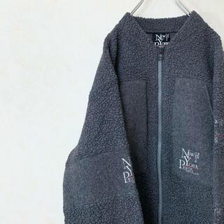 ボアジャケット 90年代 ヘンリーネック USA製 ウール ビックサイズ 美品(ブルゾン)