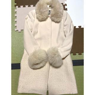 ジャスグリッティー(JUSGLITTY)の美品♡JUSGLITTY ファー切り替えコート(毛皮/ファーコート)