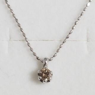 ✨新品未使用✨K10WG 1粒ダイヤモンドネックレス(ネックレス)