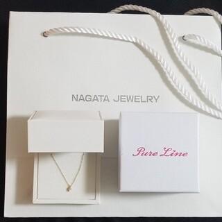 ✨新品未使用✨K10YG 1粒ダイヤモンドネックレス(ネックレス)