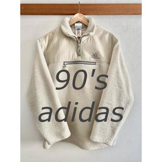 アディダス(adidas)の90s adidas プルオーバーボアフリース 古着(ニット/セーター)