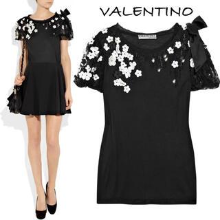 ヴァレンティノ(VALENTINO)の19.20SS Valentino/ヴァレンティノ フラワーTシャツ 美品(Tシャツ(半袖/袖なし))