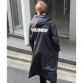 ATTACHIMENT - アタッチメント オーバーレインコート パーカー ブラック