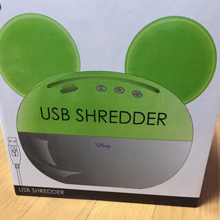 ディズニー(Disney)の新品未使用 ディズニー ミッキー型 USBシュレッダー(その他)