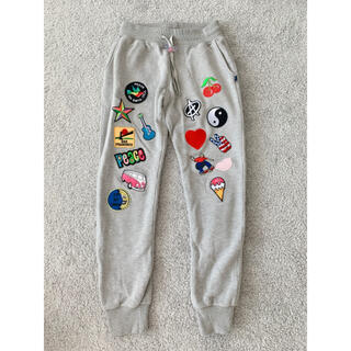 ハリウッドランチマーケット(HOLLYWOOD RANCH MARKET)のSweet Pants スウェットパンツ グレー ワッペン スイートパンツ(その他)