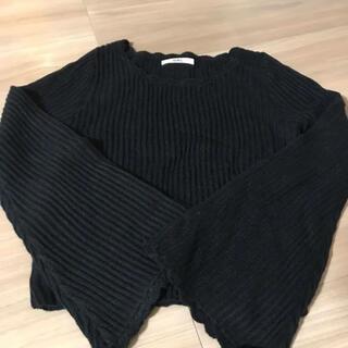 グレイル(GRL)のGRL 袖スリーブ ニット ブラック(ニット/セーター)