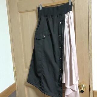 リルリリー(lilLilly)のBANK WhipStaff スカート ドッキングスカート アシンメトリー(ひざ丈スカート)
