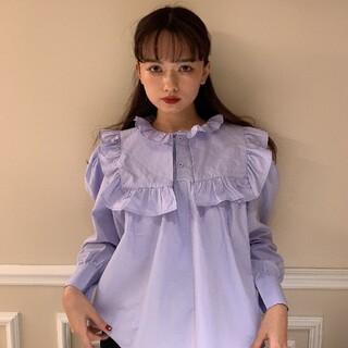 《即納》spring color blouse blue(シャツ/ブラウス(長袖/七分))
