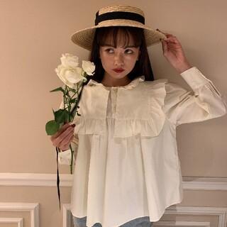 《即納》spring color blouse yellow(シャツ/ブラウス(長袖/七分))