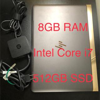 ヒューレットパッカード(HP)のHP SPECTRE 13-v106TU 512GB Core i7 8GB (ノートPC)