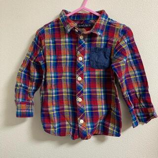 フタフタ(futafuta)のチェック ネルシャツ キッズサイズ95(ブラウス)