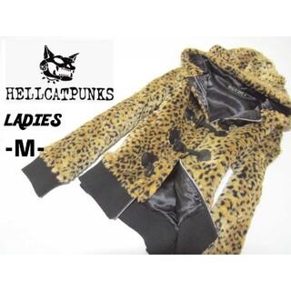 ヘルキャットパンクス(HELLCATPUNKS)のレディースM◇HELL CAT PUNKS◇ファージャケット 耳&尻尾つき(毛皮/ファーコート)